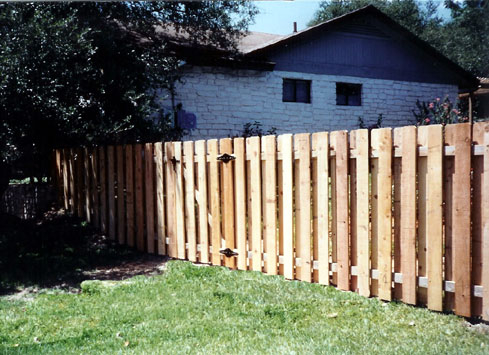2 rail cedar backyard fence