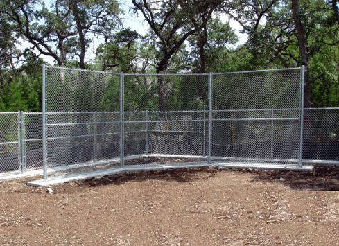 4 post chain link fence dugout