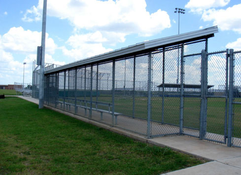baseball dugout chain link fence