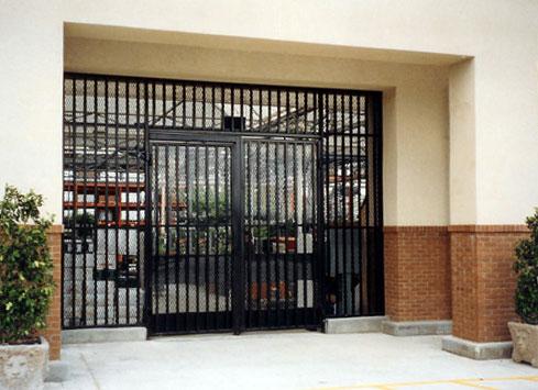 black metal fence nursery entrance gate