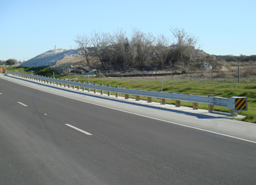 guardrails along highway