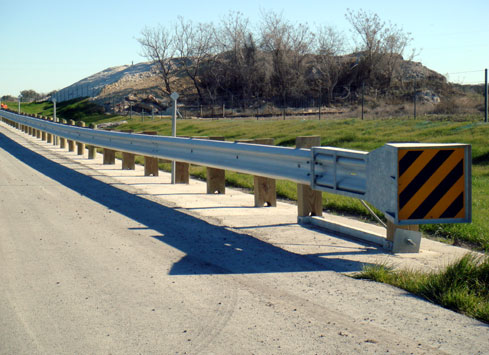 highway shoulder guardrail