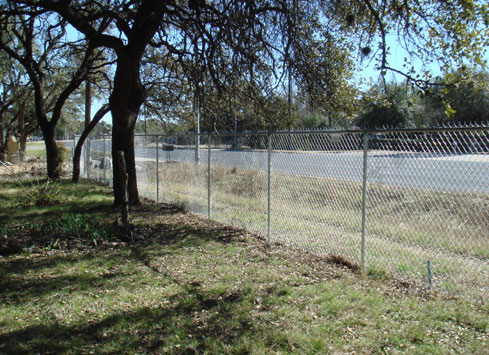 low cost chain link fence around property